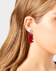 HOLIDAY GUMMY BEAR EARRINGS RED