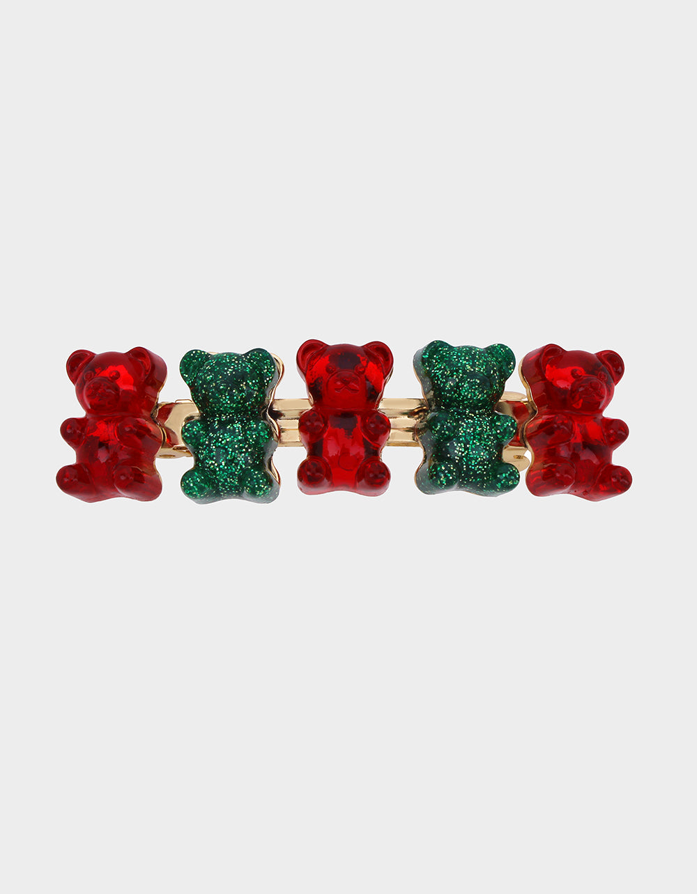 HOLIDAY GUMMY BEAR HAIR CLIP MULTI - JEWELRY - Betsey Johnson