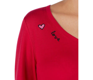 ICONS AND LOVE TOP RED