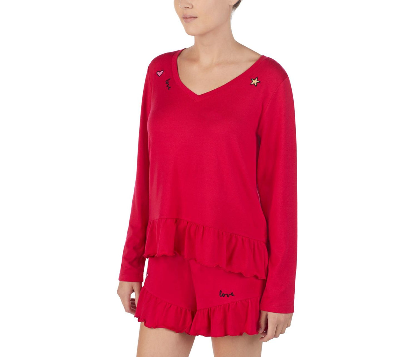 ICONS AND LOVE TOP RED - APPAREL - Betsey Johnson