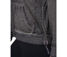 ICY FLEECE SIDE RIBBED ZIP JACKET BLACK - APPAREL - Betsey Johnson