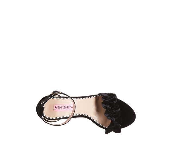 ILIANA BLACK VELVET - SHOES - Betsey Johnson