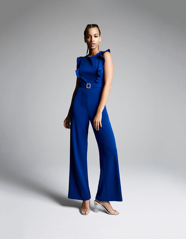 IN THE DETAILS JUMPSUIT BLUE - APPAREL - Betsey Johnson