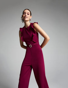 IN THE DETAILS JUMPSUIT FUCHSIA