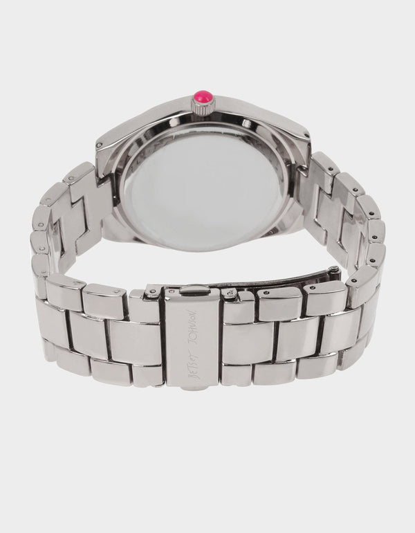 ITS RUFF OUT THERE LINK WATCH SILVER - JEWELRY - Betsey Johnson