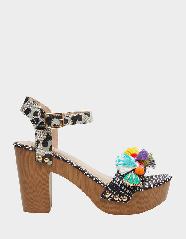 JILLIE BLACK/WHITE - SHOES - Betsey Johnson