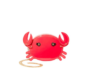 KITSCH PINCH ME CRAB CROSSBODY RED