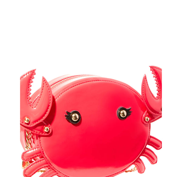 KITSCH PINCH ME CRAB CROSSBODY RED - HANDBAGS - Betsey Johnson
