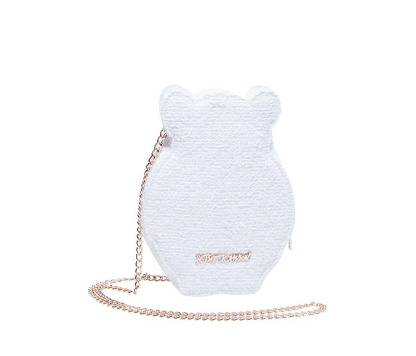 KITSCH SNOW BEAR CROSSBODY WHITE - HANDBAGS - Betsey Johnson