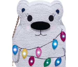 KITSCH SNOW BEAR CROSSBODY WHITE
