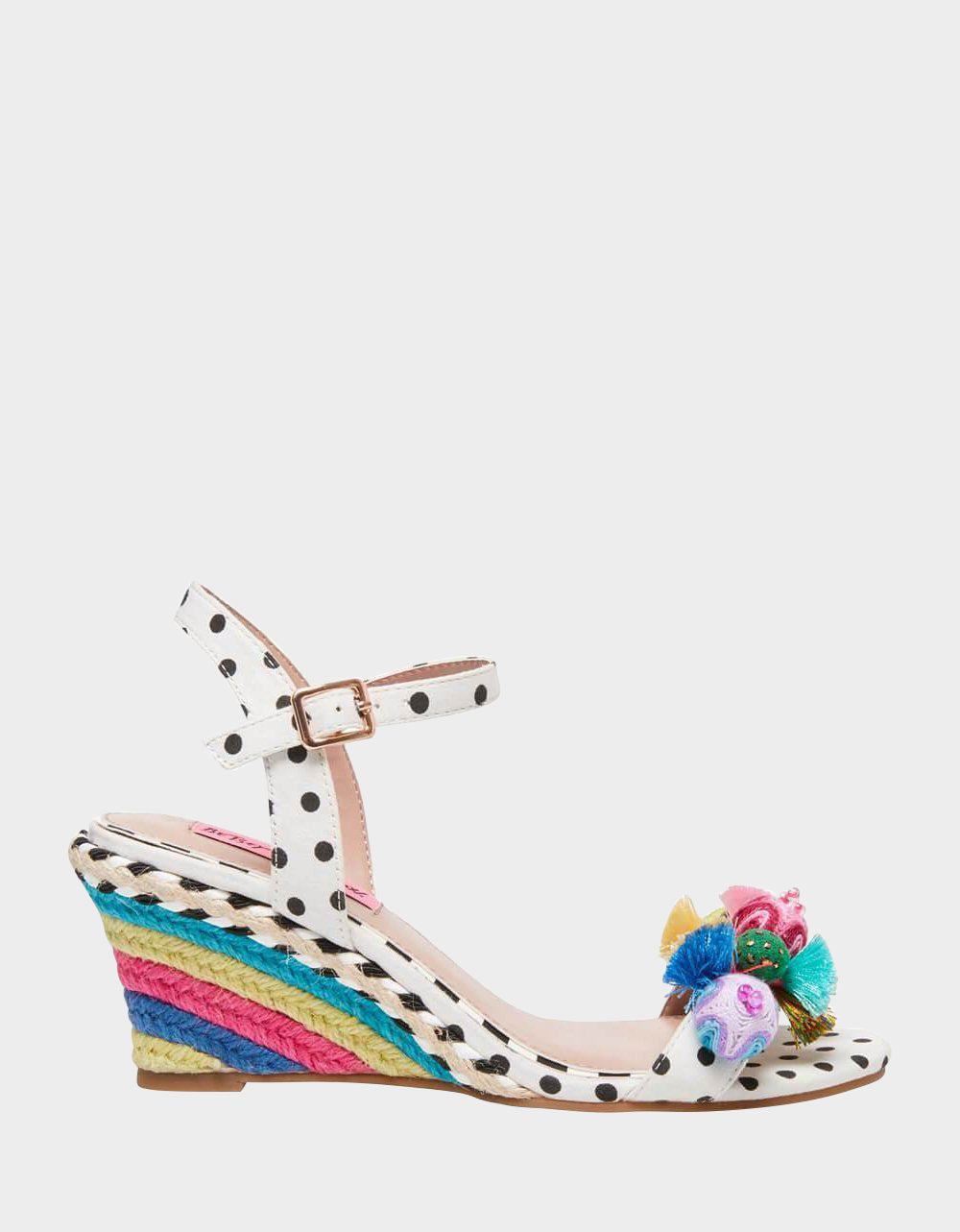 KOKO WHITE MULTI - SHOES - Betsey Johnson