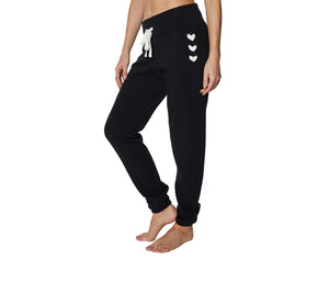 LACED UP JOGGER PANTS BLACK