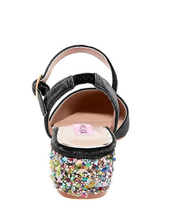 LENA BLACK VELVET - SHOES - Betsey Johnson