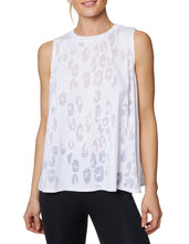 LEOPARD BURNOUT TANK WHITE - APPAREL - Betsey Johnson