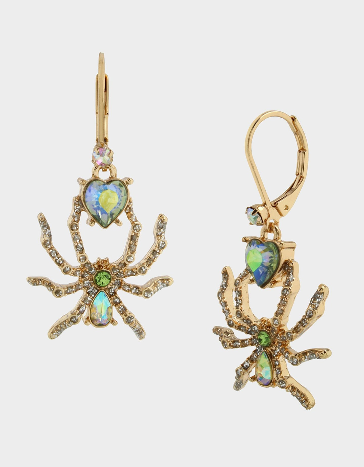 LILY FLOWER SPIDER DROP EARRINGS YELLOW - JEWELRY - Betsey Johnson