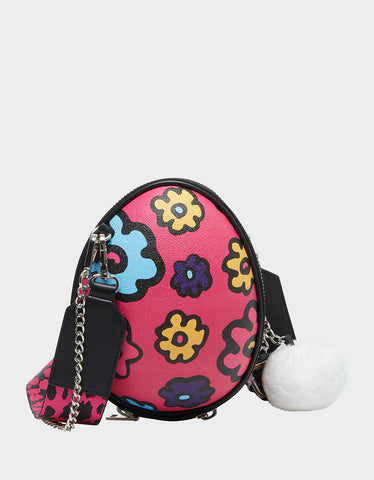 LIMITED EDITION EGGCELENT CROSSBODY PINK MULTI