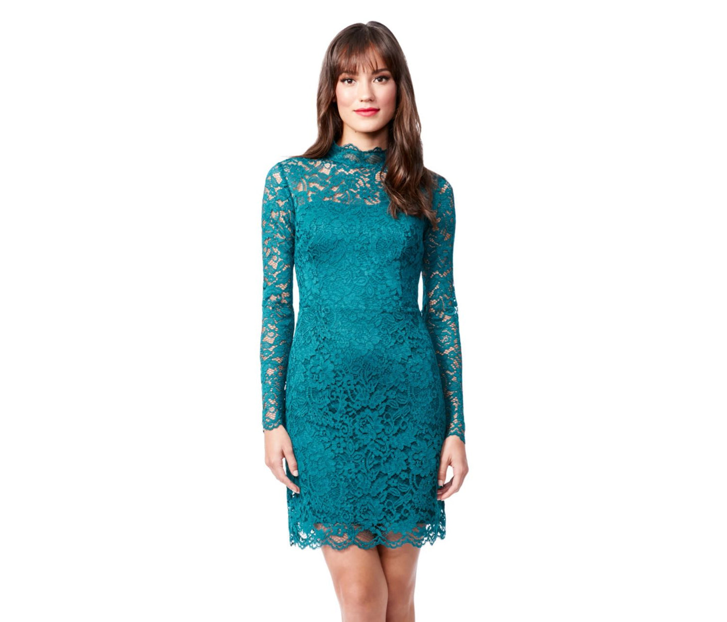 LINGERING LACE DRESS TEAL - APPAREL - Betsey Johnson