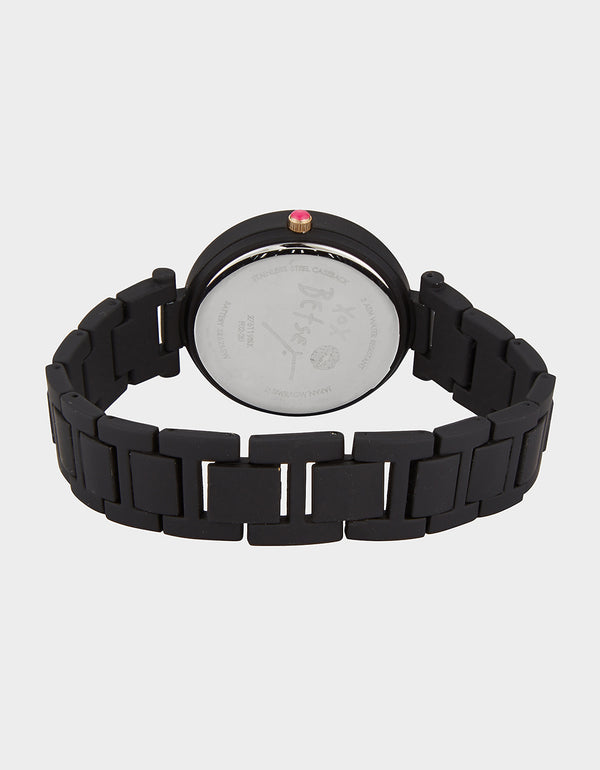 LINKED LOVE WATCH BLACK - JEWELRY - Betsey Johnson
