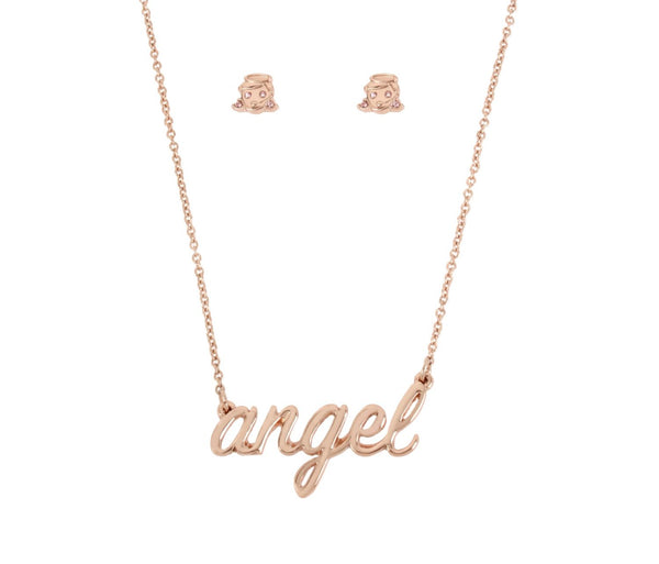 LITTLE ANGELS PINK ANGEL SET PINK - JEWELRY - Betsey Johnson