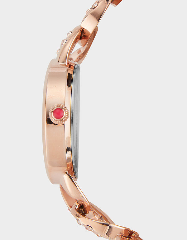 LITTLE LINKS WATCH ROSE GOLD - JEWELRY - Betsey Johnson