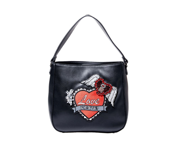LOVE FOREVER HOBO BLACK - HANDBAGS - Betsey Johnson