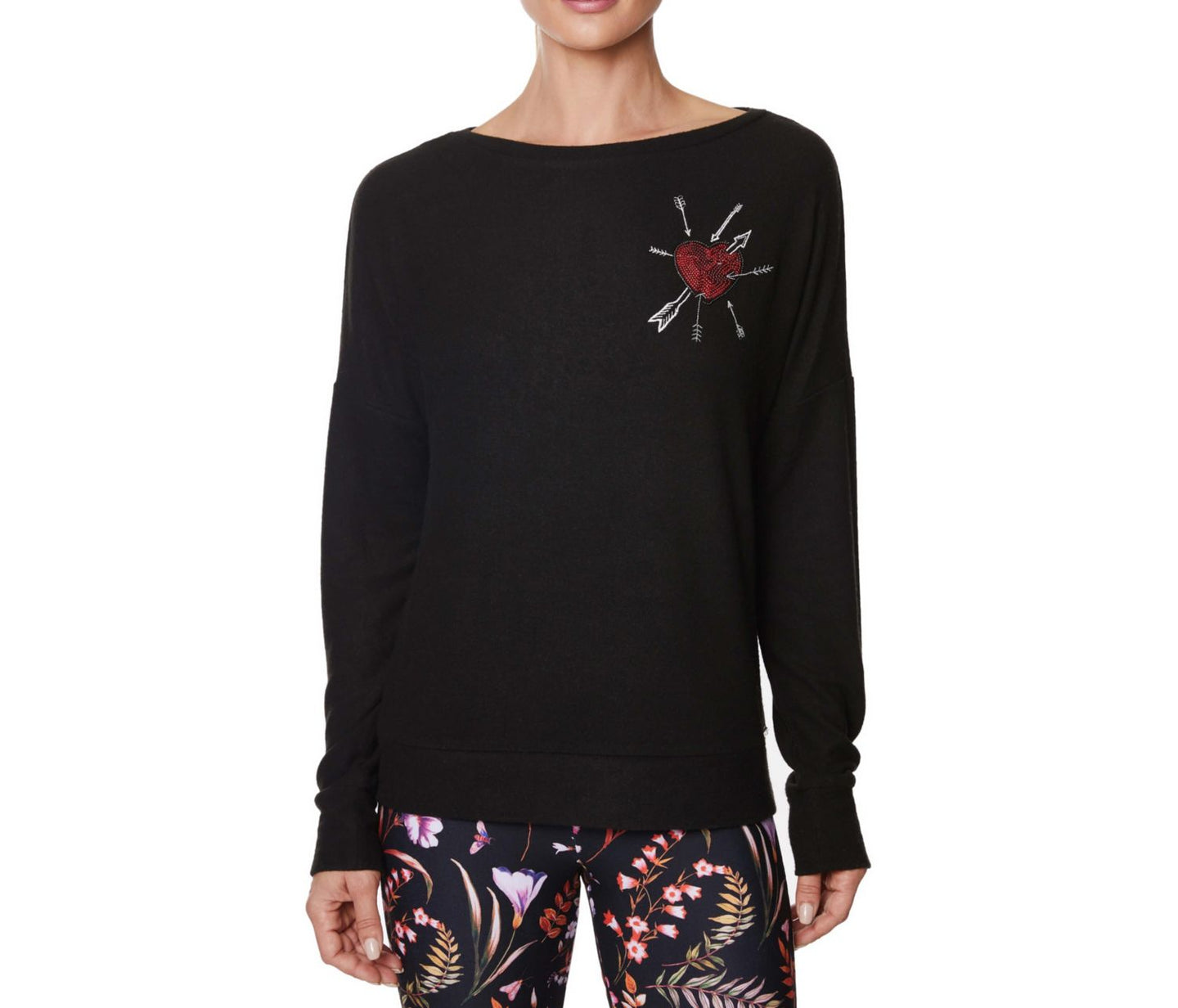 LOVE IS ALL THERE IS SWEATSHIRT BLACK - APPAREL - Betsey Johnson