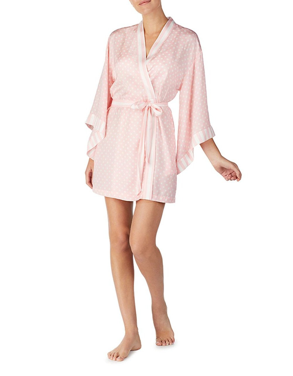 LOVE SPELL WASHED SATIN ROBE BLUSH - APPAREL - Betsey Johnson