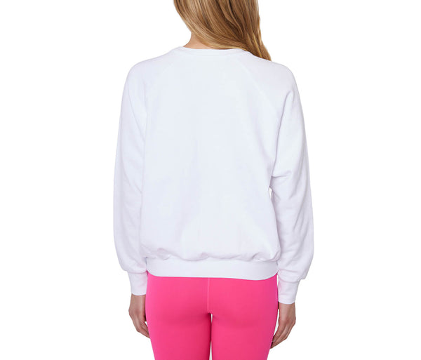 LOVED THREADED EMBROIDERY SWEATSHIRT WHITE - APPAREL - Betsey Johnson
