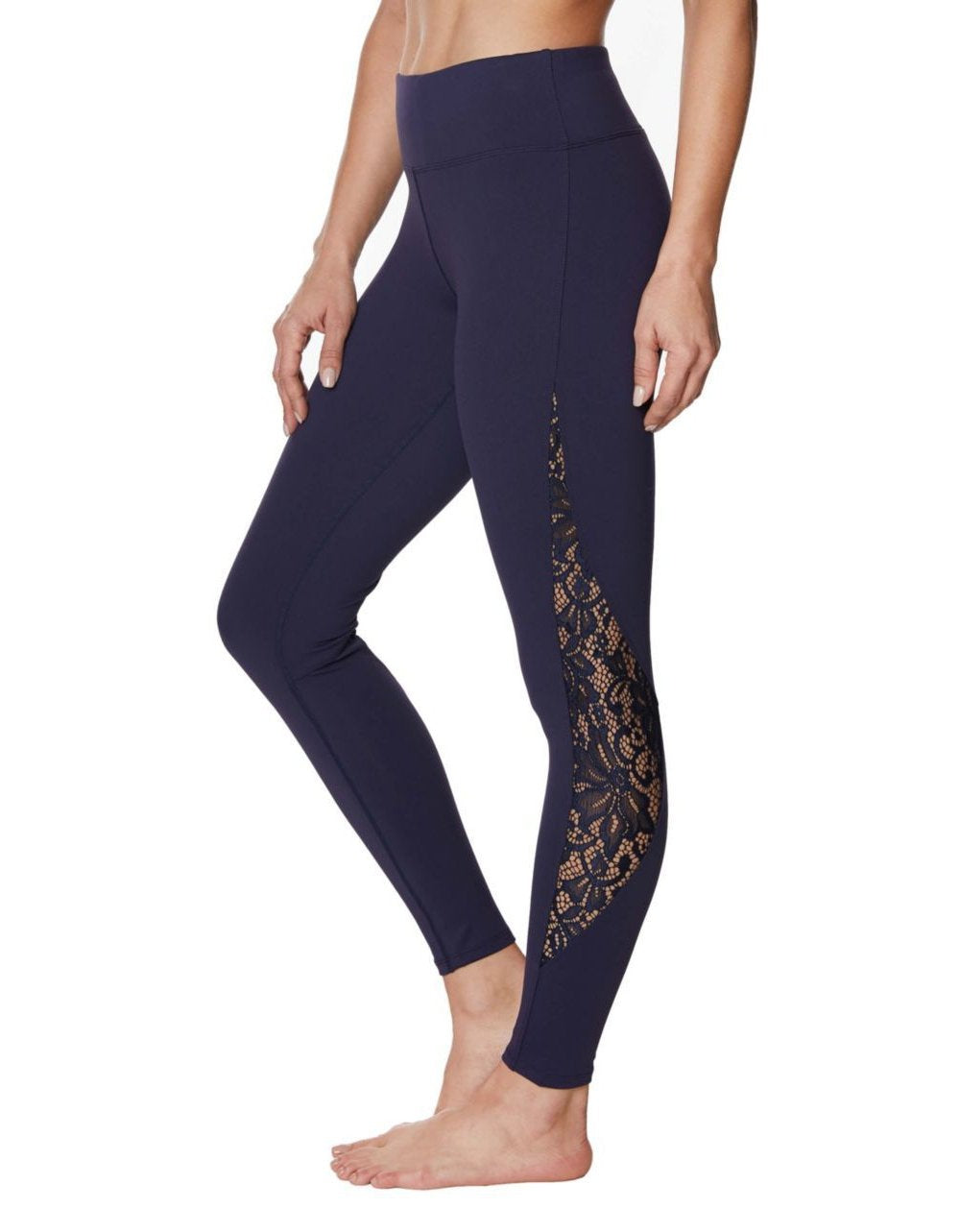 LOVELY LACE INSET LEGGINGS NAVY - APPAREL - Betsey Johnson