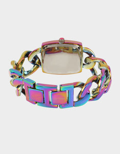 LOVELY LINKS RAINBOW WATCH RAINBOW MULTI