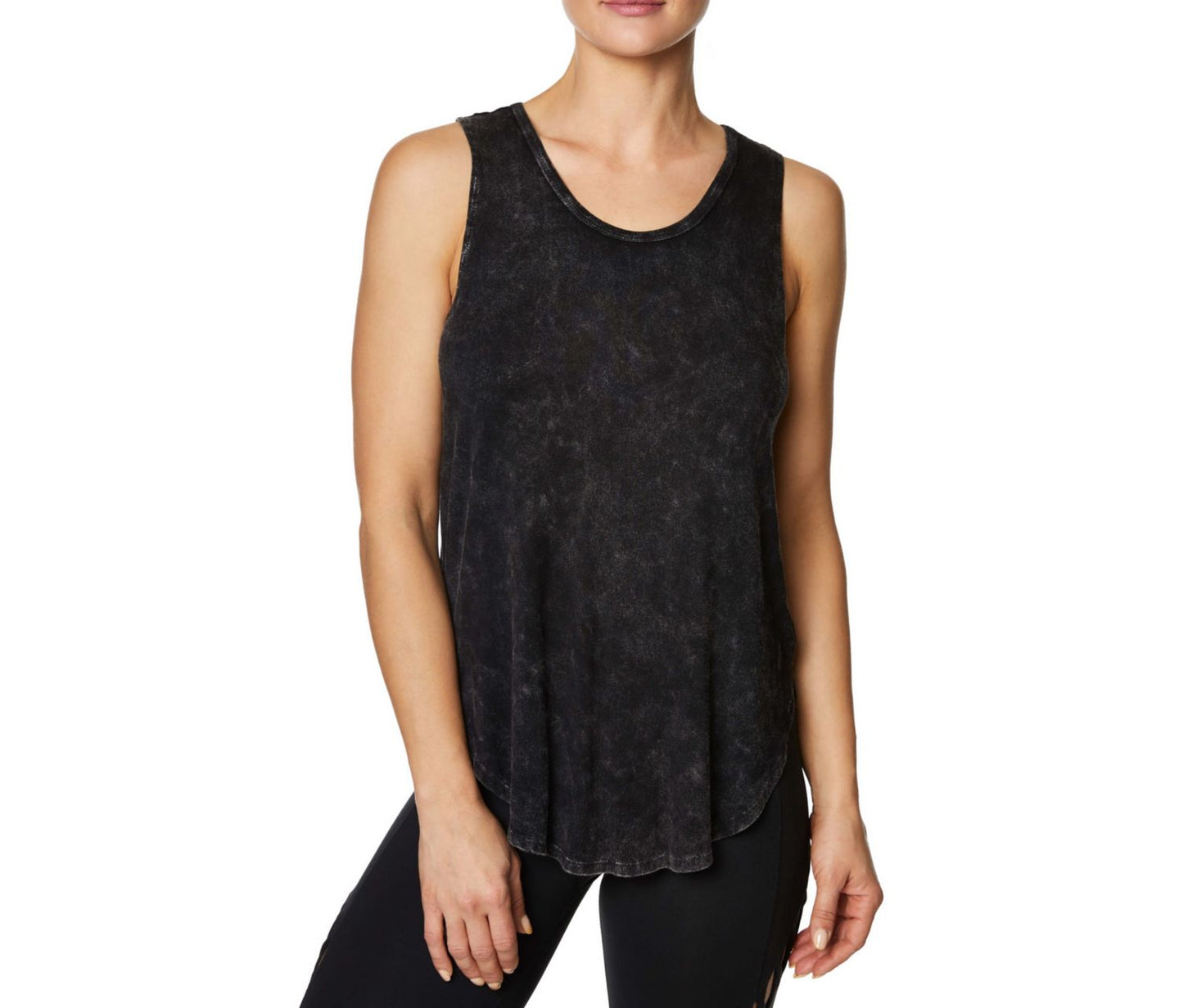 LOW BACK TANK WITH CRISS CROSS STRAPS BLACK - APPAREL - Betsey Johnson