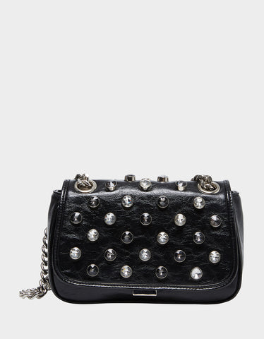 LUXE LIST SHOULDER BAG BLACK