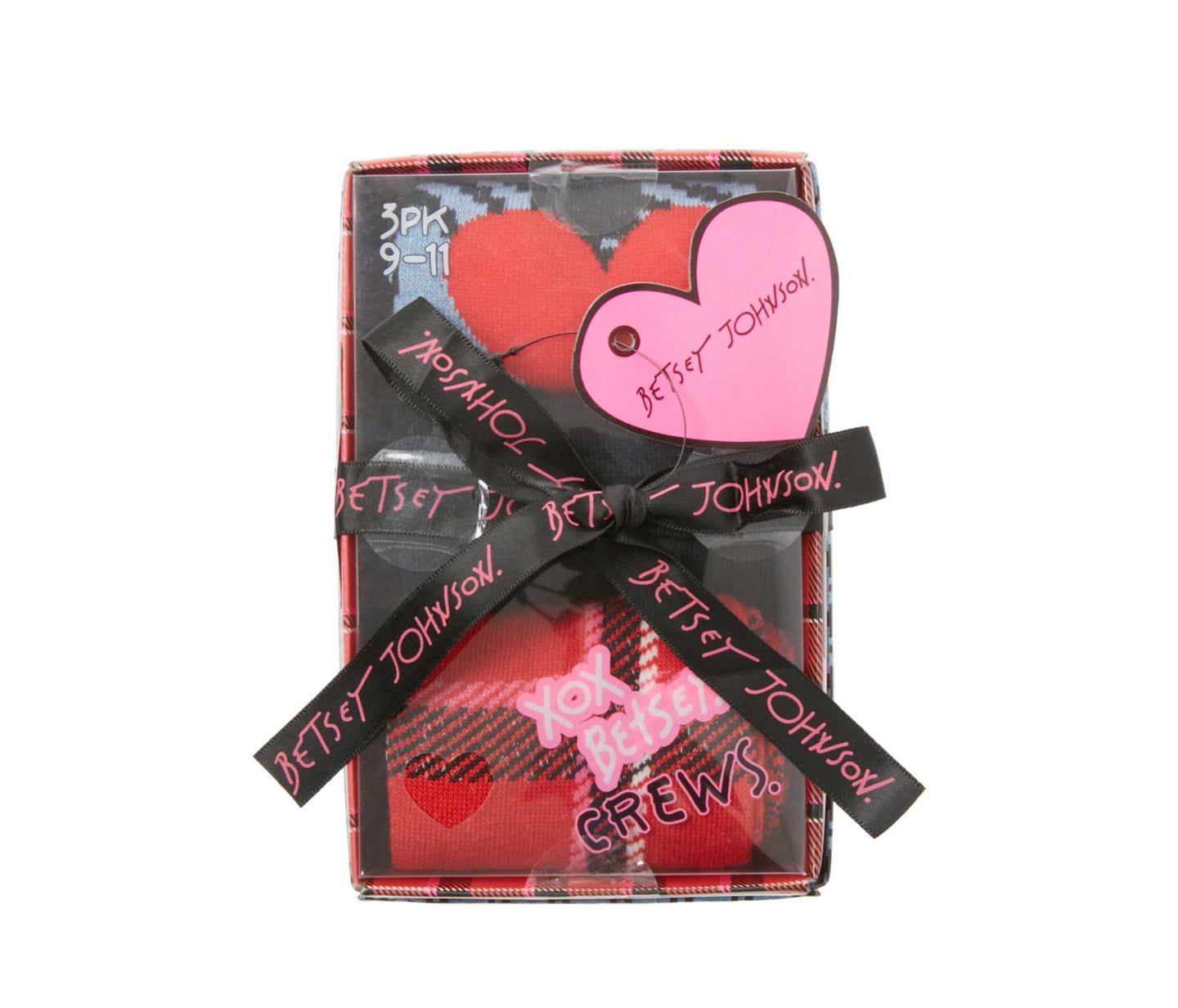 MAD PLAID CREW 3 PACK GIFT BOX MULTI - ACCESSORIES - Betsey Johnson