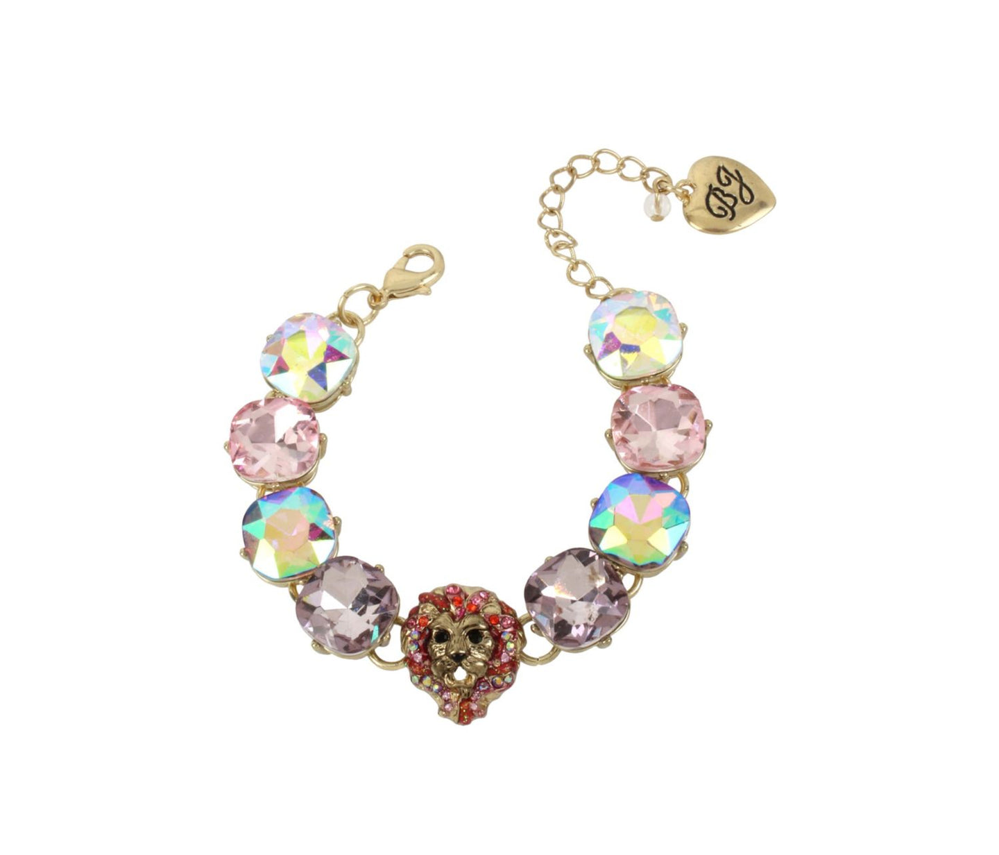 MAGICAL CREATURES LION BRACELET PINK - JEWELRY - Betsey Johnson