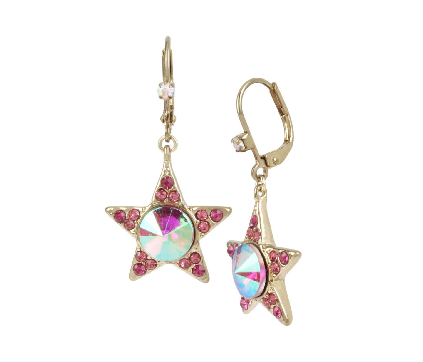 MAGICAL CREATURES STAR EARRINGS PINK - JEWELRY - Betsey Johnson