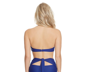 MALIBU SOLIDS BANDEAU TOP NAVY