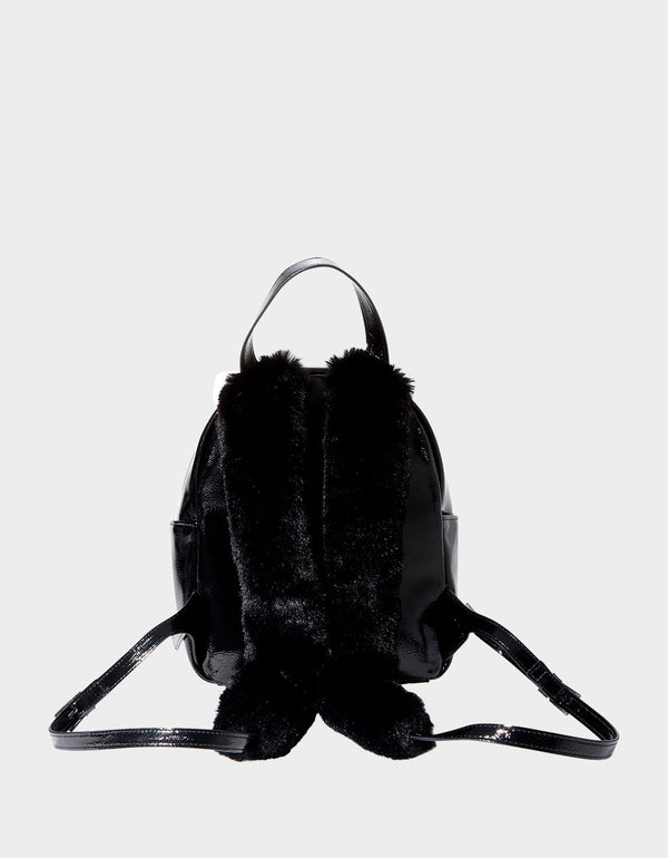 MEOW IN THE DARK BACKPACK BLACK - HANDBAGS - Betsey Johnson