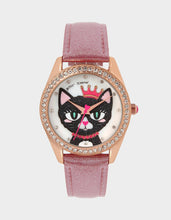 MEOWING ABOUT IT GLITTER BAND WATCH PINK -  - Betsey Johnson