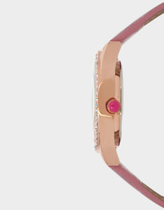 MEOWING ABOUT IT GLITTER BAND WATCH PINK