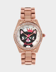 MEOWING ABOUT IT LINK WATCH ROSE GOLD