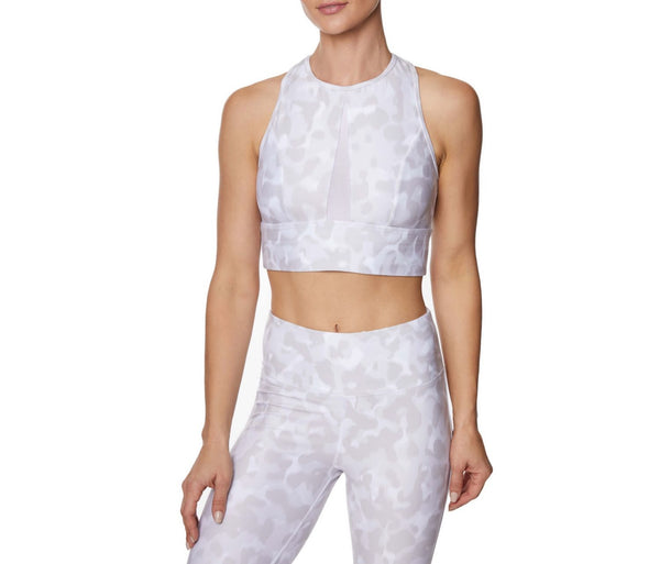 MESH INSERT SPORTS BRA ANIMAL - APPAREL - Betsey Johnson