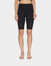 MESH OVERLAY 9 INCH SHORT BLACK - APPAREL - Betsey Johnson