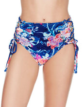MIDNIGHT GARDEN TOO HIGH WAIST BOTTOM BLUE MULTI - APPAREL - Betsey Johnson