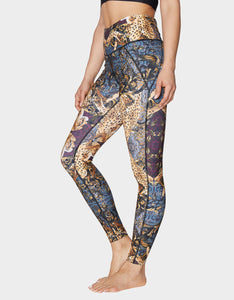 MIRRORED LEOPARD PRINT ANKLE LEGGING MULTI