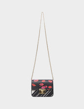 MIXED MEDIA CROSSBODY BLACK MULTI - HANDBAGS - Betsey Johnson