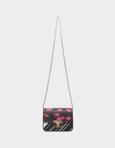MIXED MEDIA CROSSBODY BLACK MULTI
