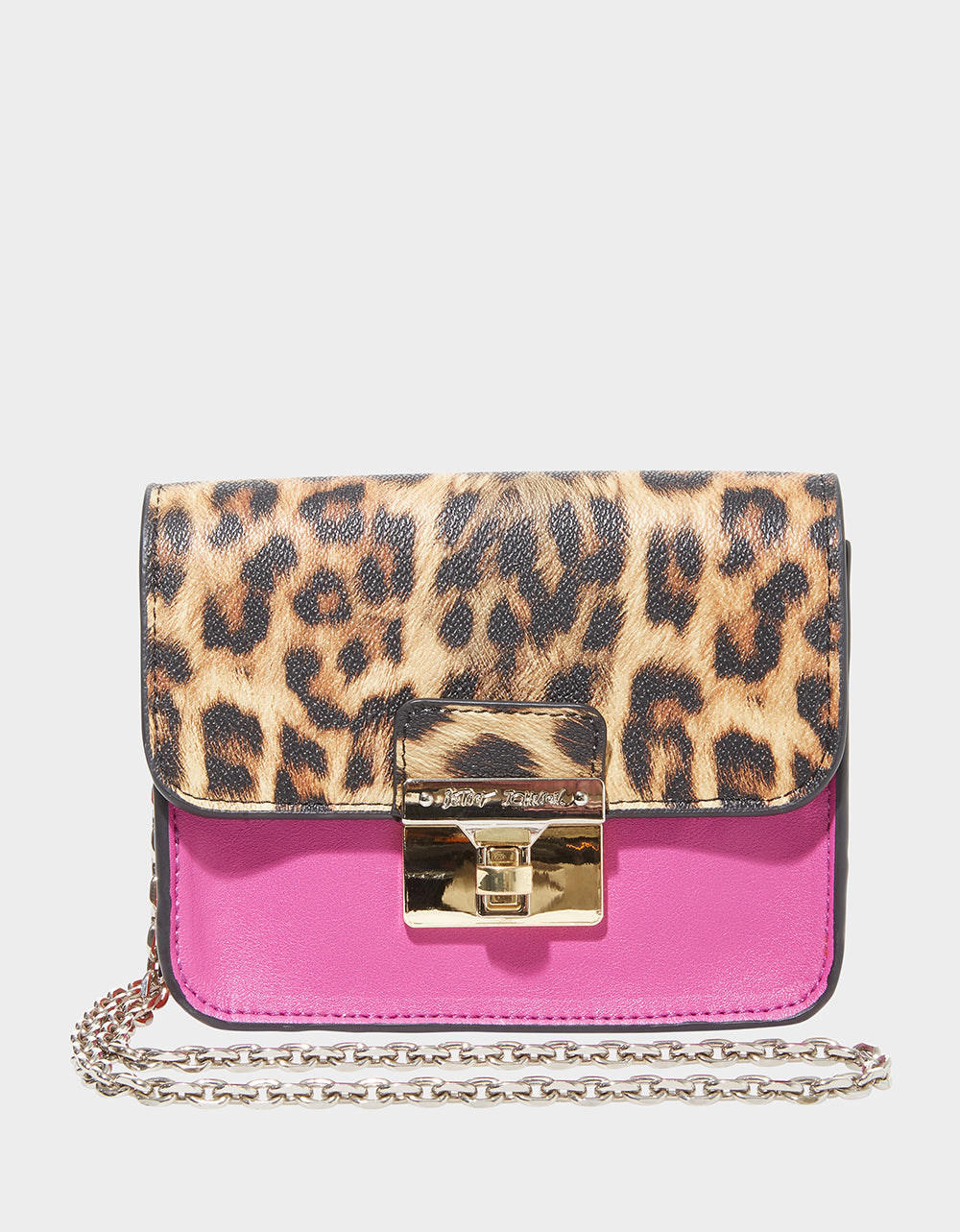 MIXED MEDIA CROSSBODY MAGENTA - HANDBAGS - Betsey Johnson