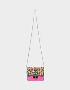 MIXED MEDIA CROSSBODY MAGENTA