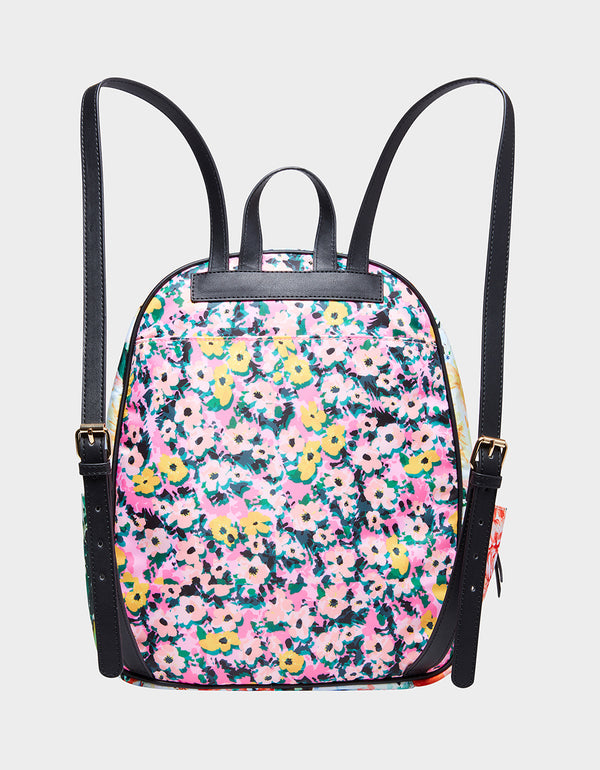 MIXING IT UP BACKPACK FLORAL - HANDBAGS - Betsey Johnson
