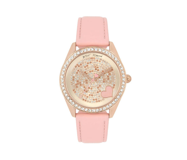 MOSAIC CRYSTALS PINK WATCH PINK - JEWELRY - Betsey Johnson